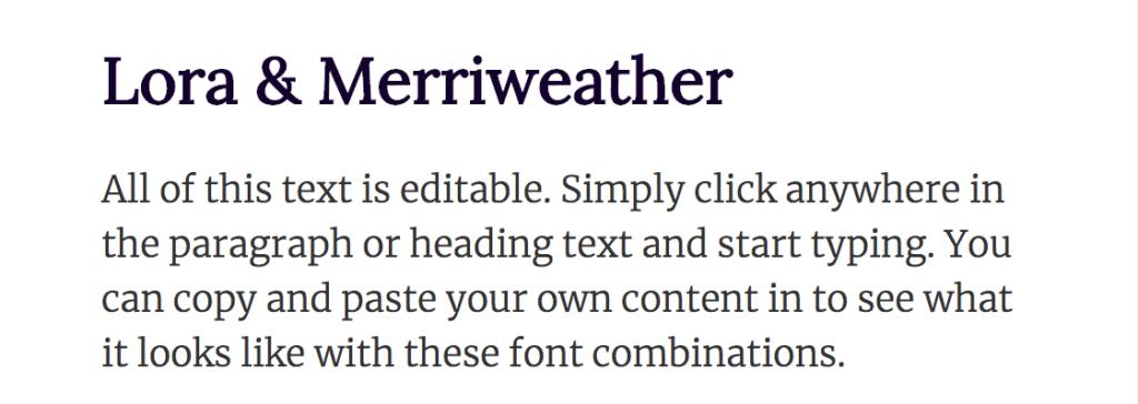 Top des combinaisons de Web Fonts !